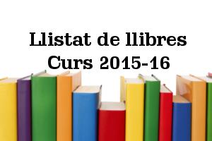 Llibres Curs 2015-16 Calderón
